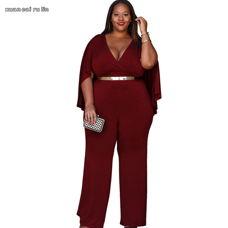 b9b37bef448 Detail Feedback Questions about 2018 Long Sleeve sexy Rompers Womens  Jumpsuit Vintage autumn Casual Loose Pants Elegant Jumpsuits Plus Size  Female Overalls ...