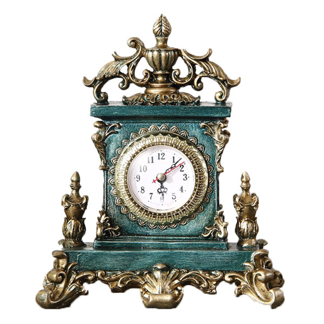 European Style Retro Clock Saat Home Decoration Accessories