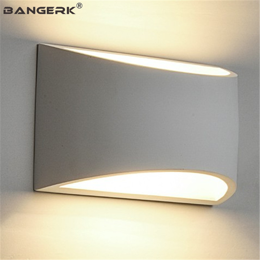 Simple Modern G9 LED Wall Light Fixtures Gypsum Wall Sconce Lights Bedside Wall Lamp Home Decor
