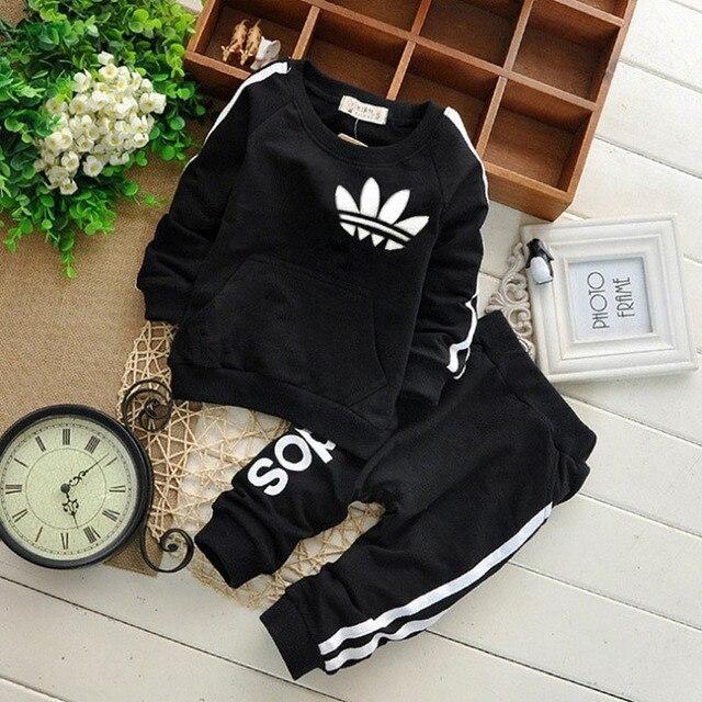 Merk Baby Boy Kleding Suits Lente Toevallige Baby Meisje Kleding Sets Kinderen Pak Sweatshirts + Sport broek Herfst Kids Set