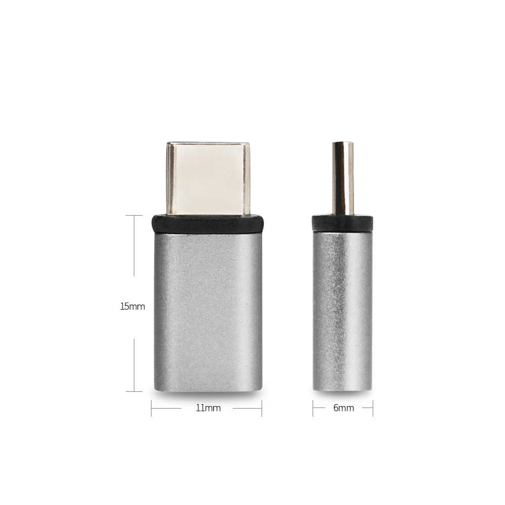 Metal Micro USB to Type-C adapter Female to Male Converter Micro-USB Connector USB-C For Xiaomi HuaWei Nexus 5X 6P mobile phone