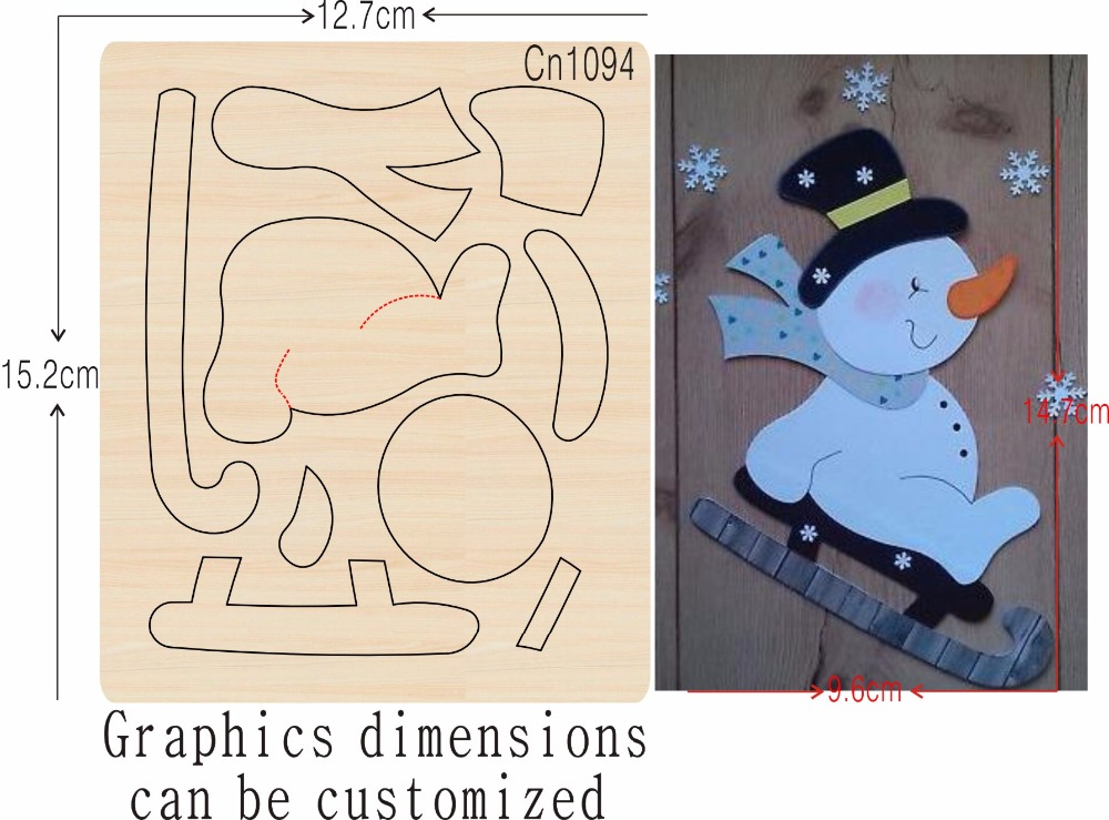 Snowman and Skateboard new wooden mould cutting dies for scrapbooking Thickness 15 8mm