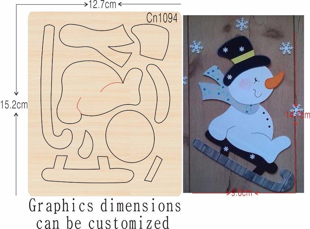 Sneeuwpop en Skateboard nieuwe houten schimmel stansmessen voor scrapbooking Thickness 15.8mm-in Stansvormen van Huis & Tuin op  Groep 1