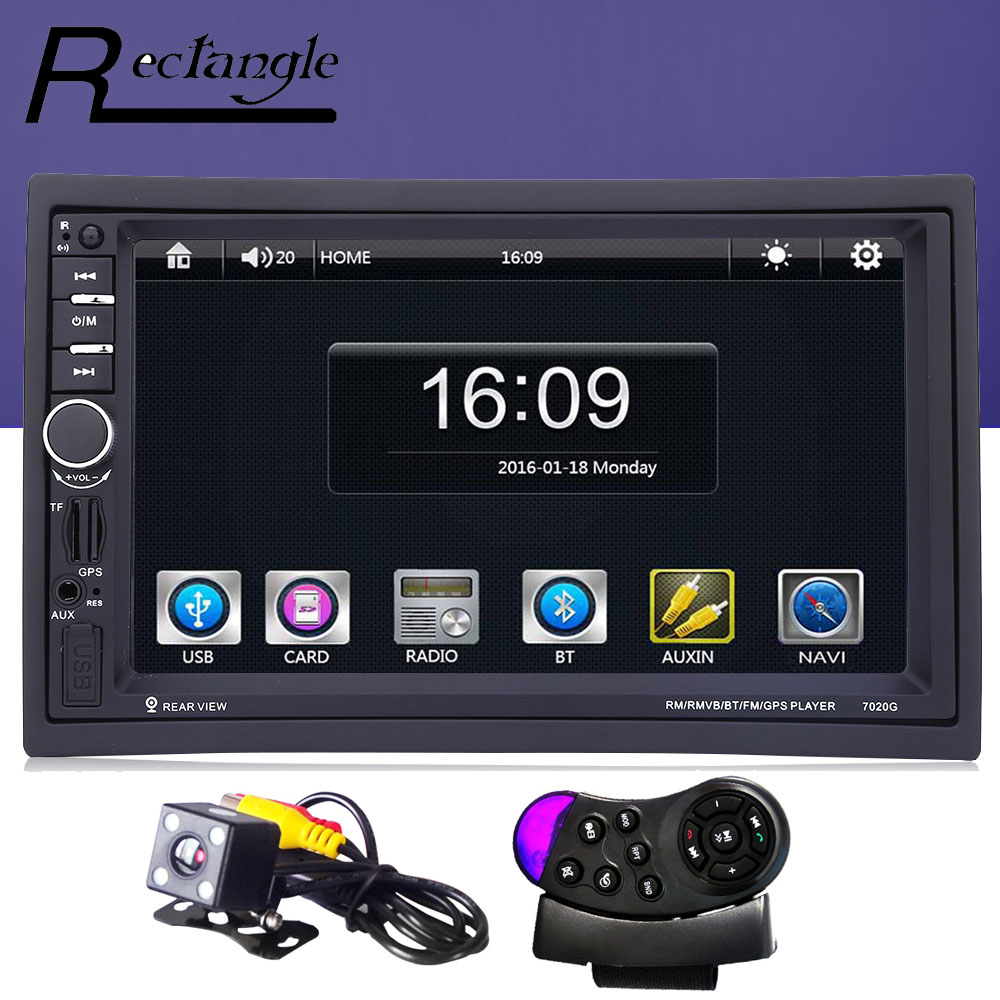 7020G 2 Double Din Car MP5 Video Player with Rear View Camera font b GPS b