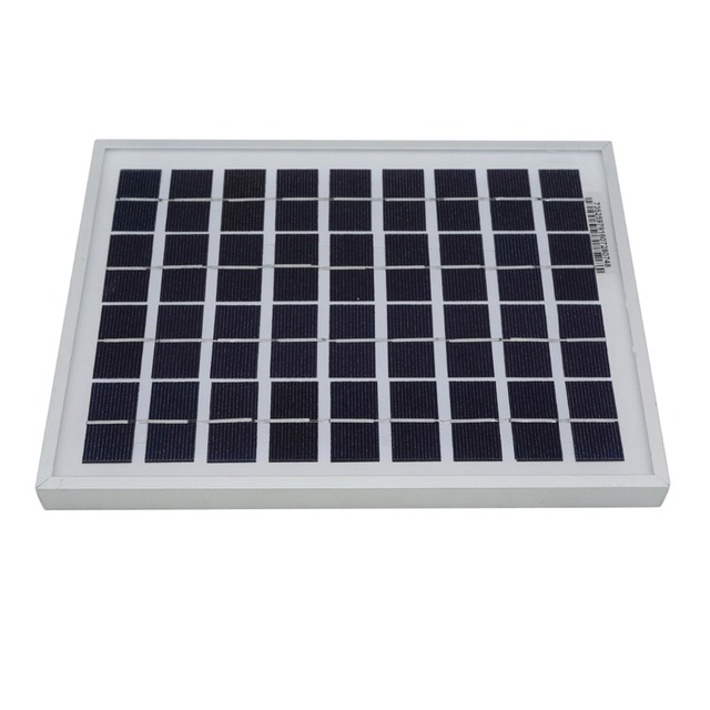 2pcs 5W 12V 10w Polycrystalline Solar Panels Solar Module for 12V Battery