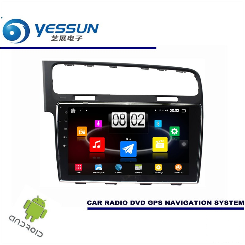 YESSUN Car Android Player Multimedia For Volkswagen VW Golf Mk7 / MQB 5G Radio Stereo GPS Nav Navi ( no CD DVD ) 10.1 HD Screen yessun for mazda cx 5 2017 2018 android car navigation gps hd touch screen audio video radio stereo multimedia player no cd dvd