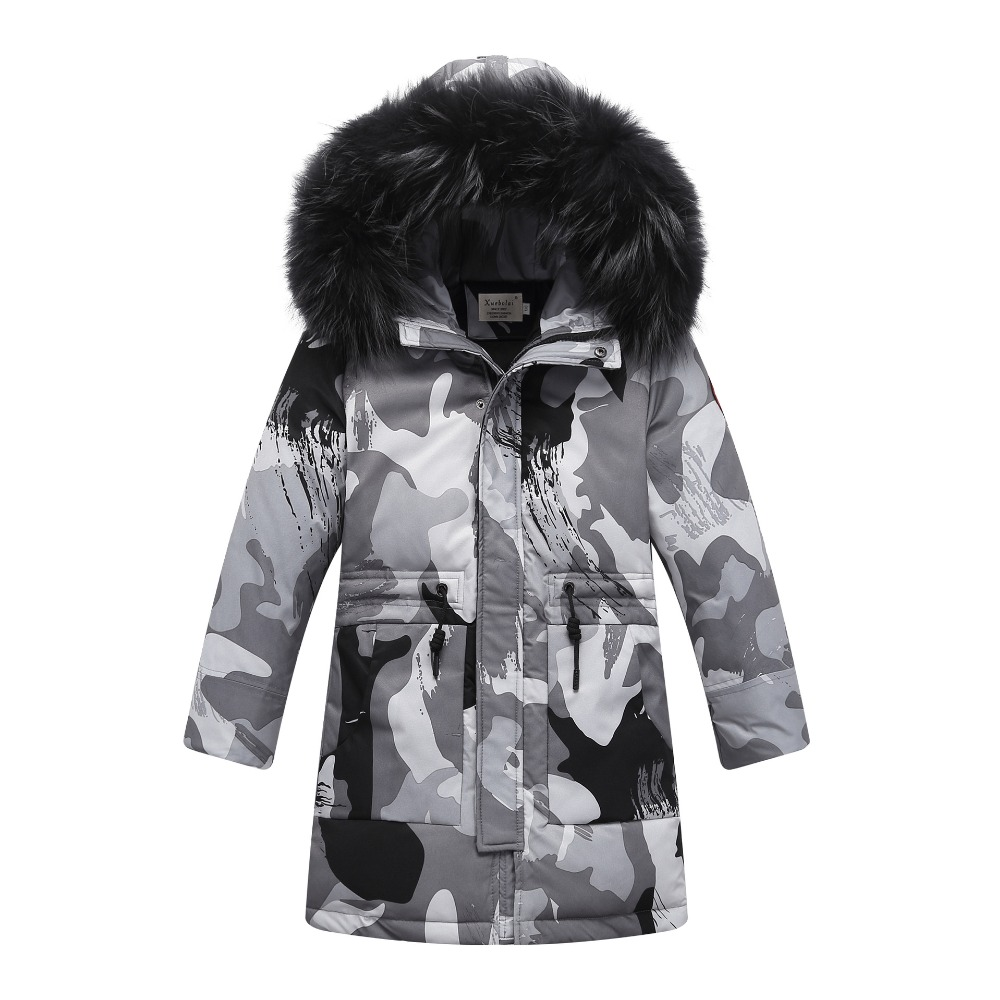 Toddler Boys Winter Jackets and Coats Baby Children Winter Jacket for Boys Outwear Warm Coat Hooded Long Parka Jacket Age 6 -14 new 2017 men winter black jacket parka warm coat with hood mens cotton padded jackets coats jaqueta masculina plus size nswt015