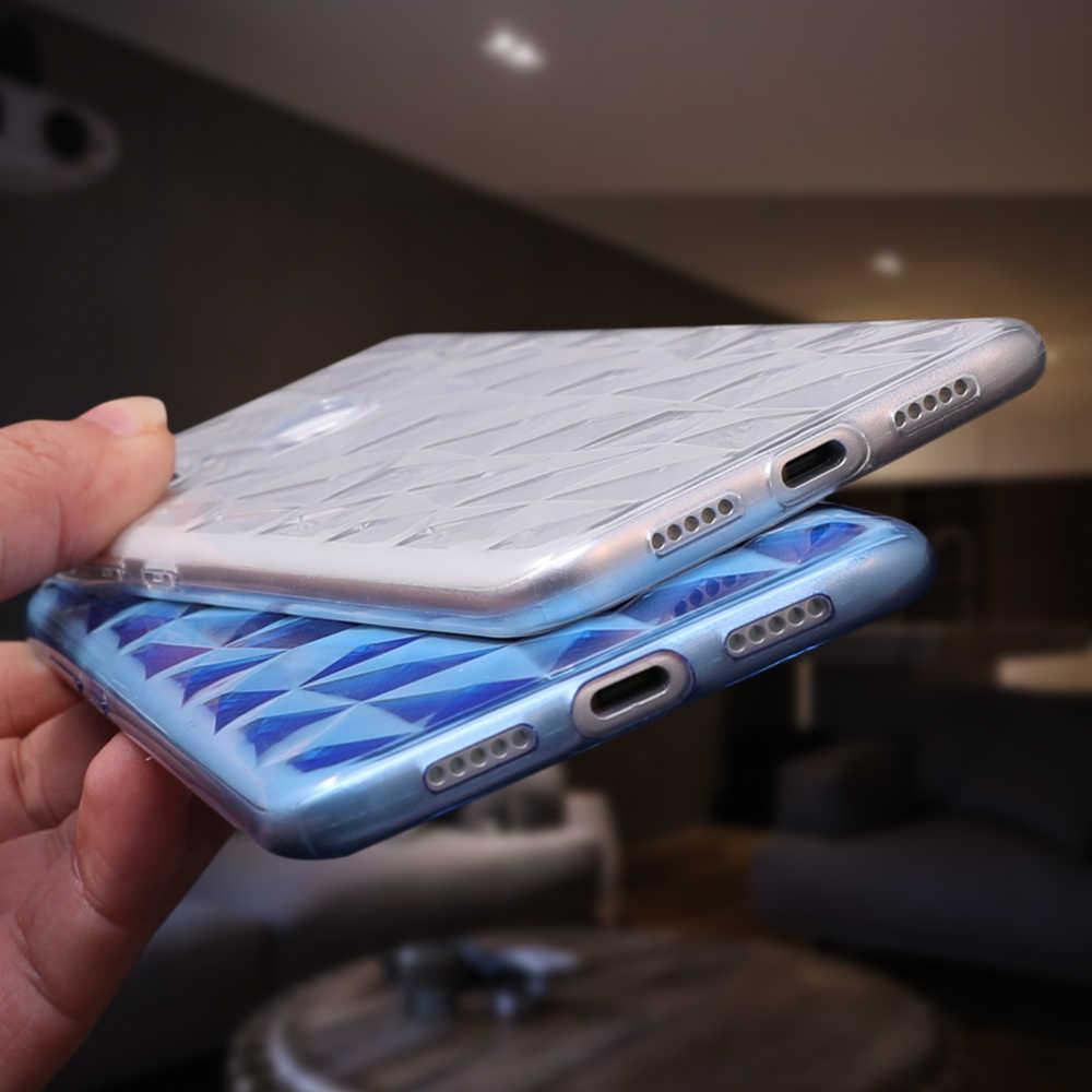 UBERAY teléfono caso para Xiaomi teléfono móvil F1 mi 8 SE A1 A2 Lite rojo mi 4X 4A 5 6 Pro Nota 5 funda suave con textura de diamante Pro 3D