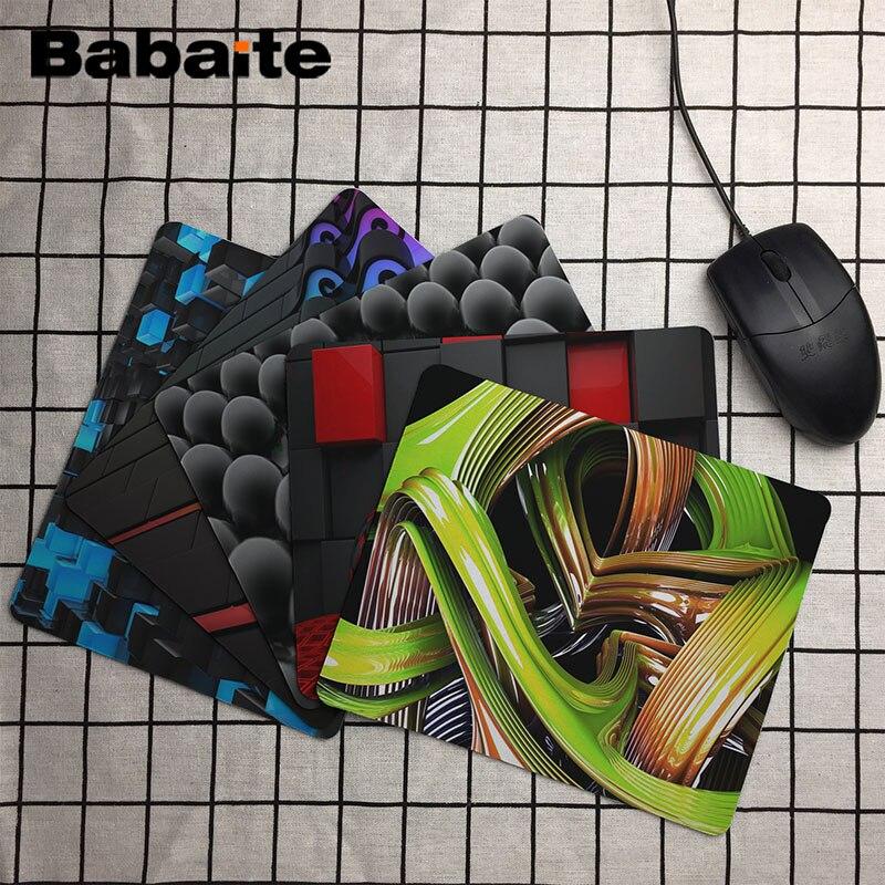 En Kaliteli Özelleştirilmiş Mouse Pad 3D Görünümü Soyut Renkli Dalgalar Bilgisayar Dizüstü Dayanıklı kaymaz Kauçuk Fare Mat Pad
