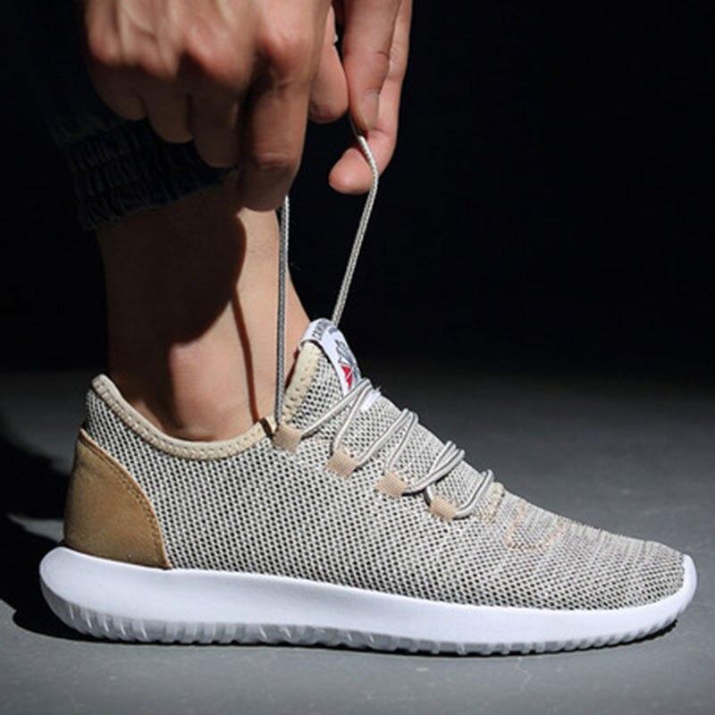 Hombres zapatos 2018 marca para hombre transpirable zapatos que caminan ocasionales zapatos de baloncesto malla hombres zapatillas respira zapatos hombre