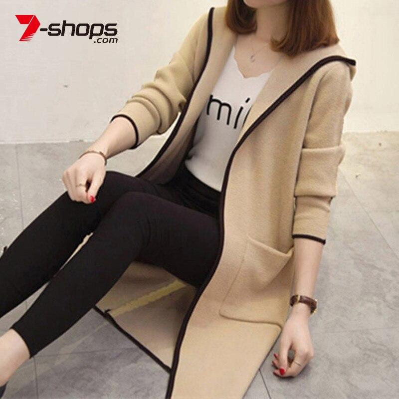 Ccibuy Female Cardigan Women Sweater For Women Jacket Plus Size Harajuku Elegant Pocket Knitted Outerwear Sweater Cape Coat