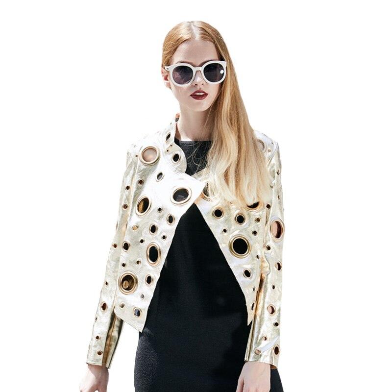 Métal Outwear Vestes x006 Printemps Style Or Nouveau Motos Automne Femmes Punk Manteaux x006 x012grey Pu Argent Club 1345 2019 Cuir Rivets Cercle En x012grey Courts x012grey 48xOIxq
