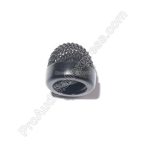 Image 3 - Vervanging Lavalier Mic metallic Cover foam Voorruit Cap Hoed voor Sennheiser ME2 Clip Revers Microfoon