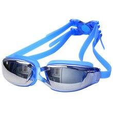 Pro UV плавательные очки водонепроницаемые противотуманные HD очки для плавания