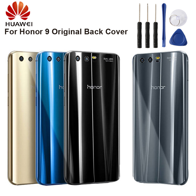 Original HUAWEI Back Battery Glass Cover Door Housing For Huawei Honor 9 STF AL00 5 15 quot Back Rear Glass Case in Phone Bumpers from Cellphones amp Telecommunications