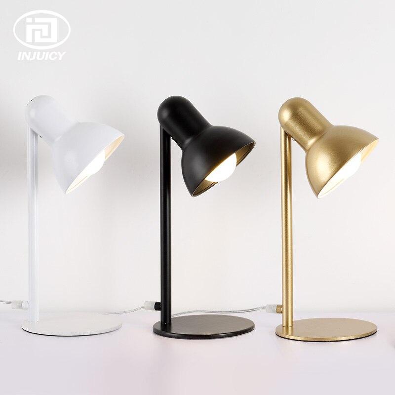 Nordique moderne minimaliste fer Art apprentissage lecture travail LED lampe de bureau personnalité créative bureau Table lumières