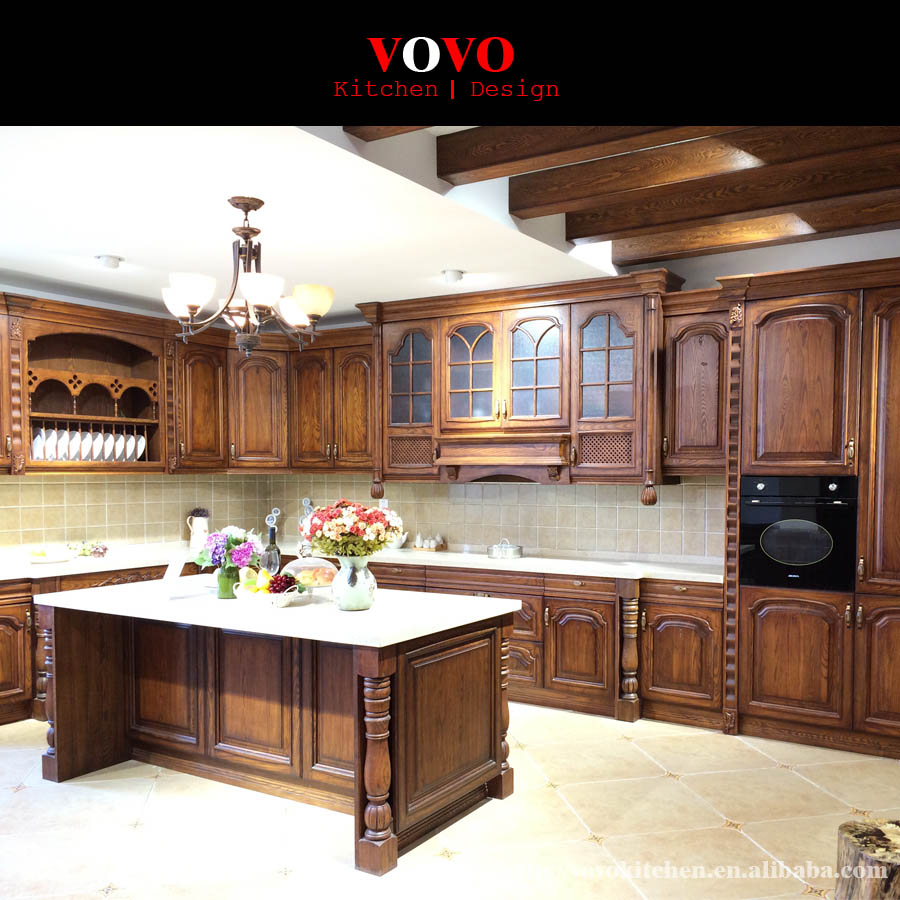 American ash solid wood kitchen cabinets-in Kitchen ...