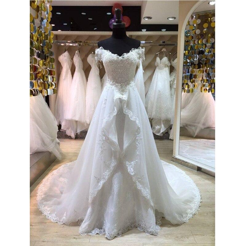 Detachable Skirt 2 Pieces Wedding Dresses Mermaid Off