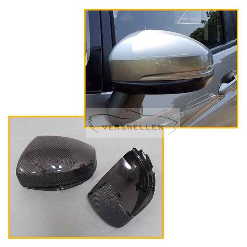 Замена углеродного волокна боковые зеркала автомобиля Шапки зеркала авто Зеркало заднего вида Запчасти для Honda Fit 2014 до города 2015 до
