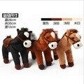 Бесплатная доставка 30 СМ милые плюшевые мягкие лошадь игрушка кукла белый коричневый черный цвет