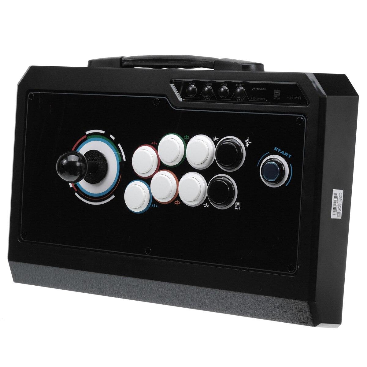 Аркада джойстик Борьба Stick акрил геймпад видеоигр палки с света Untuk USB ПК для PS3