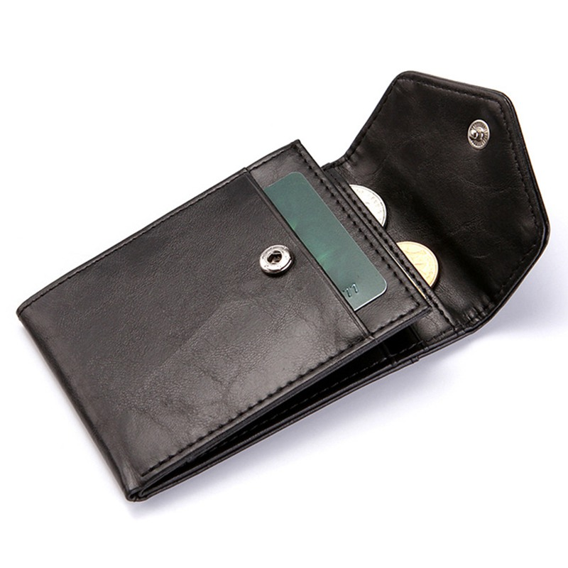RFID Anti-Theft Brush Business Credit Card Holder Wallet Creative Draw Buckle Coin Pouch Card Bag Clutch Pocket Men Wallet