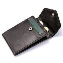 RFID Anti-Theft Brush Business Credit Card Holder Wallet Creative Draw Buckle Coin Pouch Card Bag Clutch Pocket Men Wallet цена и фото