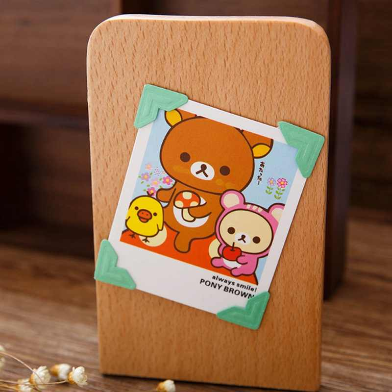 Hot Selling 9 Color  Cartoon Cute Photo Corner Stickers For DIY Baby Photo Album Or Scrapbook Album 24pcs/sheet