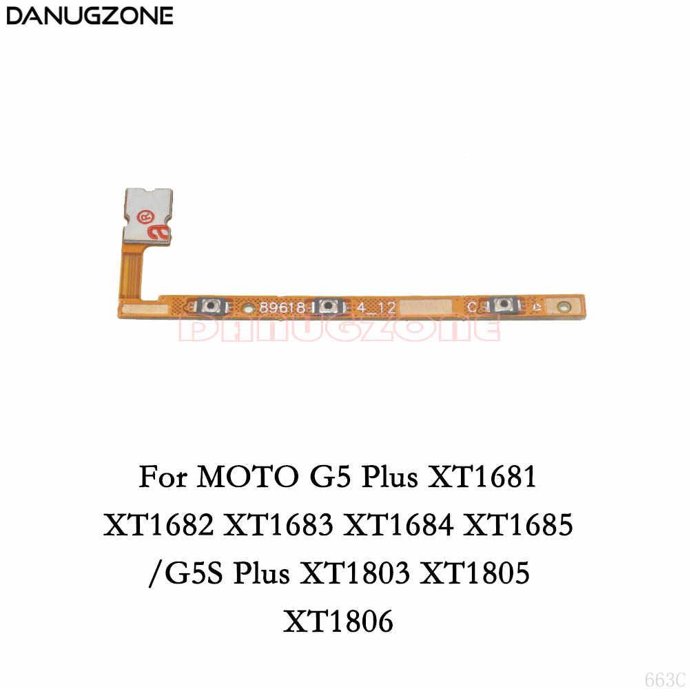 電源ボタンスイッチボリュームボタンにミュート/オフフレックスケーブルモトローラモト m G5 プラス G5S G6 再生 e3 E4 E5