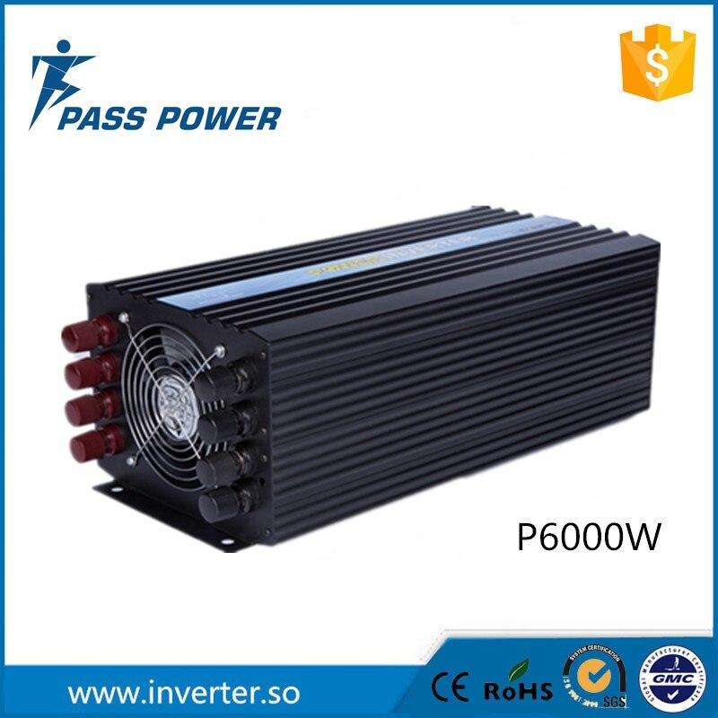 Pleine puissance soft start onde sinusoïdale pure 6000 w le convertisseur dc 24 v 120 v