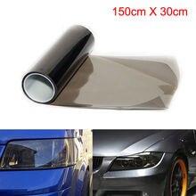 Black Medium Light Film Smoke Headlight Tail Tinting Fog Vinyl 30*150cm For Car Headlights Or Taillights