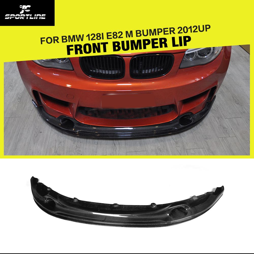Car-Styling Carbon Fiber Front Bumper Guard Lip Spoiler Apron For BMW 1 Series E82 M Base Coupe 2-Door 2011UP