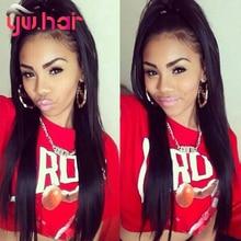 Youwin hair Brazilian Virgin Hair Straight 3 Bundles Brazilian Straight Virgin Hair Weave 7A Straight Human Hair Extension