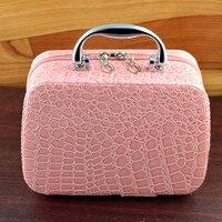 Земля скажите рекомендации! Дорожная сумка модная Шкатулка принцессы косметичка Хранение коробка для ювелирных изделий подарок на день ро...
