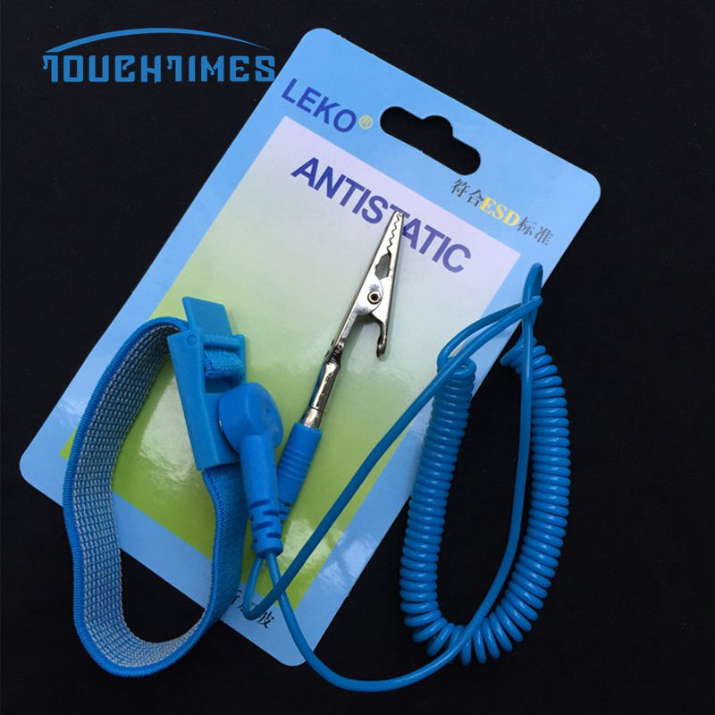 Power Tool Accessories Free Shipping 5pcs Anti Static Wirst Band Antistatic Cordless Esd Discharge Wrist Strap Grounding