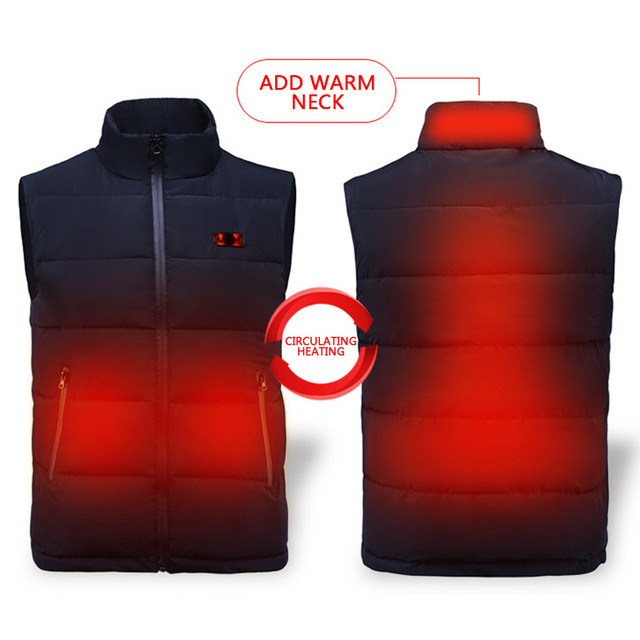 2019 Winter USB Infrared Heating Vest Jacket Electric Thermal Clothing Waistcoat For Women Men Outdoor Hiking Camping Cycling