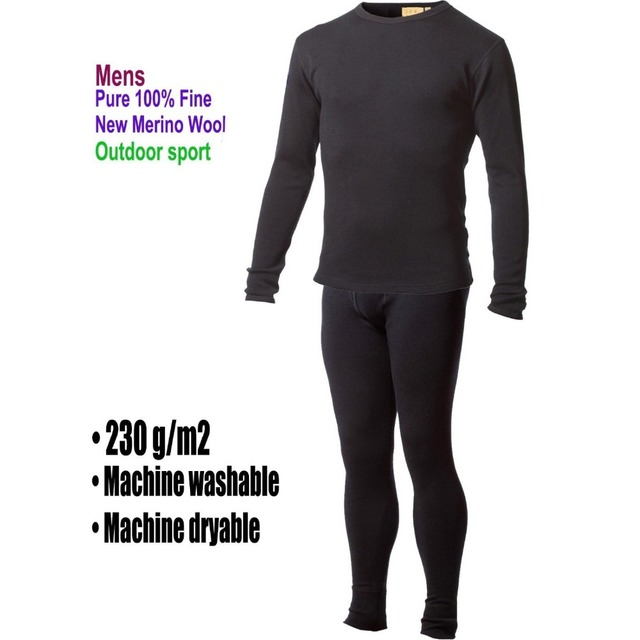 Męska mężczyzna 100% czystej wełny merynosów zima warstwa podstawowa termiczna ciepły sweter bielizna oddychająca połowie wagi topy spodnie dół zestaw