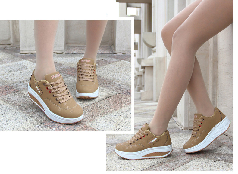 HTB1NPoGqMaTBuNjSszfq6xgfpXaf Akexiya Fashion Women Height Increasing Summer Breathable Waterproof Wedges Sneakers Platform Shoes Woman Pu Leather Casual Shoe