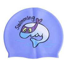 Профессиональный водонепроницаемый защитный практичный силикон шапочка для плавания для детей Детские принадлежности для плавания Водные виды спорта
