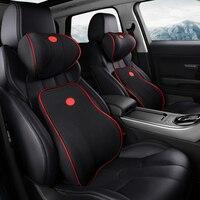 Assento de carro encosto de cabeça lombar almofada pescoço apoio memória volta cinta travesseiro suporta ergonomia acessórios auto cintura Suportes de assento    -