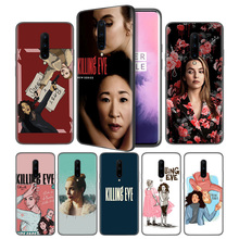 Killing Eve Soft Black Silicone Case Cover for OnePlus 6 6T 7 Pro 5G Ultra-thin TPU Phone Back Protective
