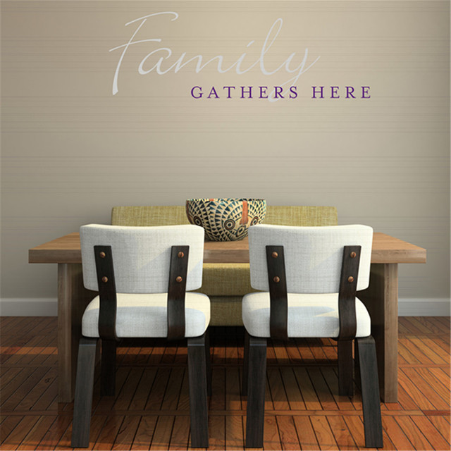 Family Wall Sticker Family Gathers Here Quotes Decals Vinyl Wall