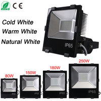 LED Flood Light Outdoor Lighting 80W 150W 180W 250W Waterproof IP65 AC85 256V Induction Sense Lamp
