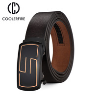Name Brand Fashion Design 2017Genuine Leather Strap Male Automatic Buckle Belts For Men Formal High Quality