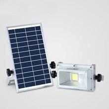 LED Rechargable Portable Solar Flood Light 10W Camping Travel Emergency DC Solar lamp Solar Panel Charging Lamp Outside