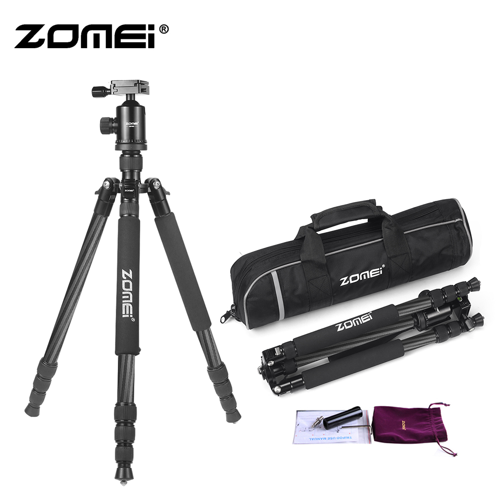 ZOMEI Z818C Camera Tripod & Monopod Carbon Fiber Travel Tripod with 360 Degree Ball Head and Bag for SLR DSLR Digital CameraZOMEI Z818C Camera Tripod & Monopod Carbon Fiber Travel Tripod with 360 Degree Ball Head and Bag for SLR DSLR Digital Camera