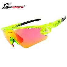 QUESHARK Polarized Sunglasses Ciclismo Mountain Road Bike Óculos Esportes  Caminhadas Goggles Pesca 3 Half Frame Lente Ciclismo Ó.. 082b05d9ac