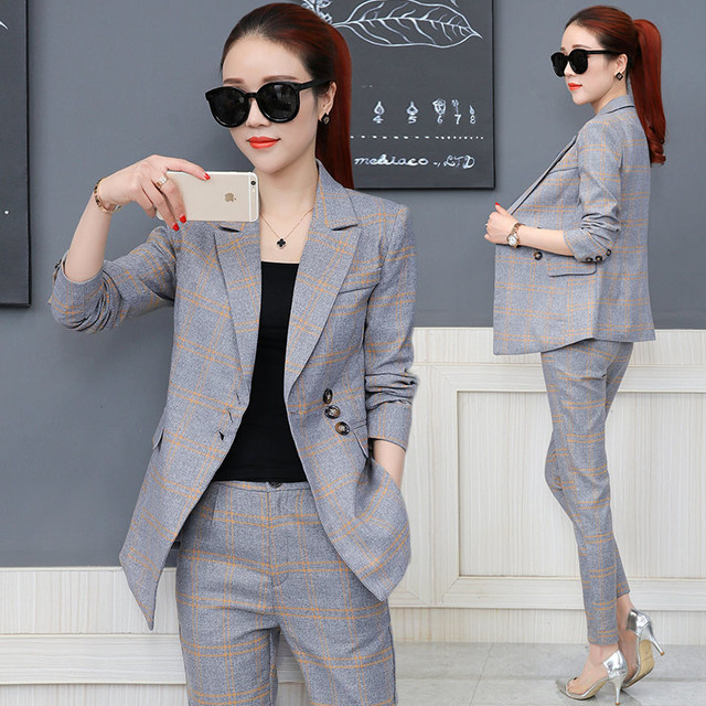 73dd1d7a5aa Women business suits 2019 spring autumn new trouser suit womens trouser  suits for women long-