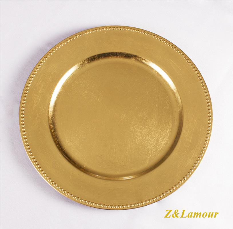 Z&Lamour  Charger Plates /round Premium Quality For Dining Table Arrangment