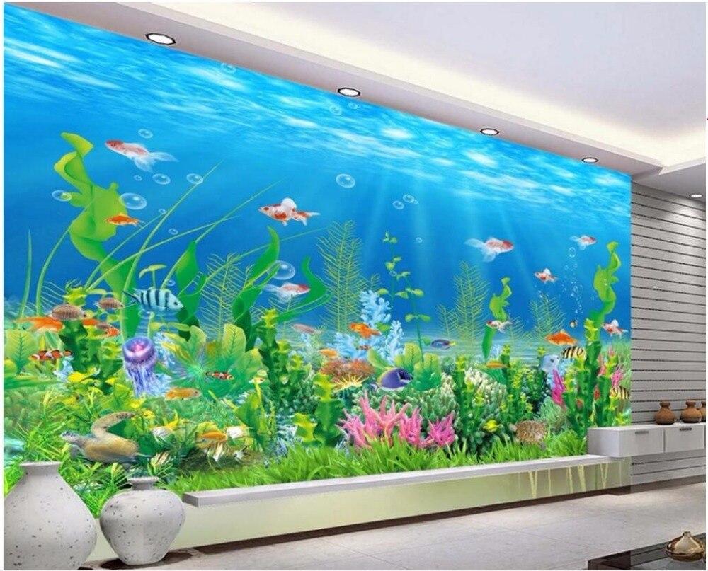 3d Wallpaper Custom Mural Photo Sea World Coral Algal Fish